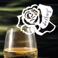 Laser Expressions White Rose Die Cut Card - Set of 12