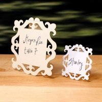 Laser Expressions Square Baroque Frame Sign (2 Sizes)