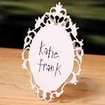 Laser Expressions Small Oval Baroque Frame Folded Sign