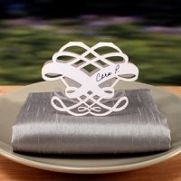 Laser Expressions Infinite Heart Folded Place Card Set of 4