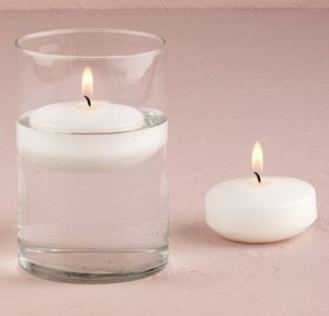 Large Round Floating Candles (Set of 3) image