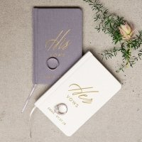 His or Her Vows Personalized Linen Pocket Journal