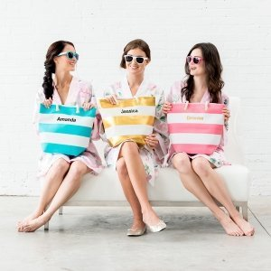 Bliss Personalized Striped Tote (4 Colors) image