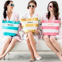 Bliss Personalized Striped Tote (4 Colors)