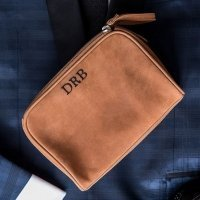 Tanned Genuine Leather Personalized Travel Bag