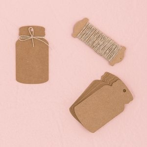 Kraft Paper Mason Jar Favor Tag with Twine image