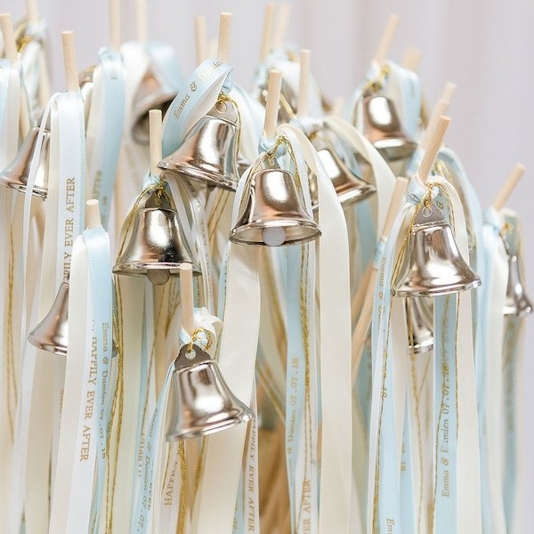 Diy Wedding Bell Ribbon Wand Kit Set Of 12 Wands