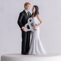 Mr. & Mrs. Porcelain Wedding Cake Topper With Ampersand
