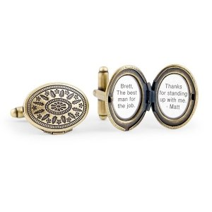 Antique Gold Love Locket Cufflinks image