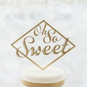 Oh So Sweet Acrylic Cake Topper (Many Colors) image