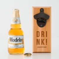 Drink Cedar Wood Wall Mount Bottle Opener