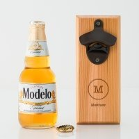 Typewriter Monogram Wood Wall Mount Bottle Opener