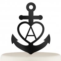 Love Anchor Acrylic Cake Topper (Many Colors)