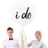 I Do Design Large White Round Wedding Balloons