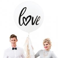 Love Design Large White Round Wedding Balloons