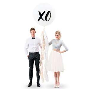 XO Design Large White Round Wedding Balloons image