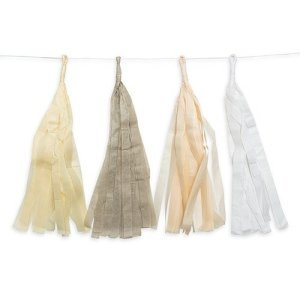 Tissue Paper Tassel Garland Pastel Assortment image