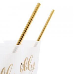Gold Foil Fancy Paper Drinking Straws image