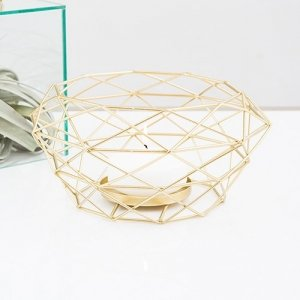 Modern Gold Geometric Metal Table Centerpiece image