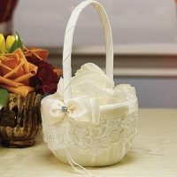 Beverly Clark French Lace Flower Girl Basket