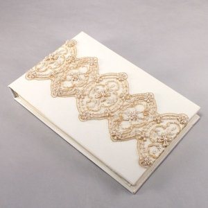 Beverly Clark Luxe Collection Guest Book (White or Ivory) image
