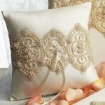 Beverly Clark Luxe Ring Bearer Pillow (White or Ivory)