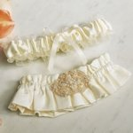 Beverly Clark Luxe Collection Garter Set (White or Ivory)