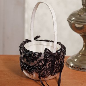 Beverly Clark Gala Collection Flower Girl Basket image
