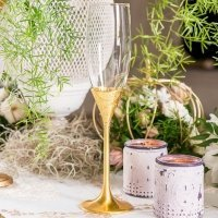 Classic Gold Romance Toasting Flutes