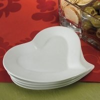 Heart Shaped Ceramic Plates (Set of 4)