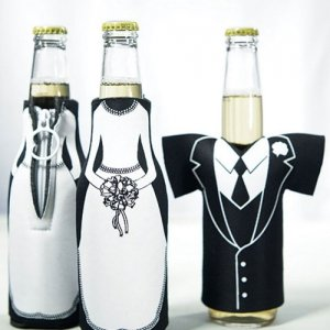 Tux & Dress Shaped Insulated Bottle Holders image