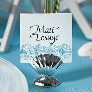 Silver Shell Placecard Holders (Set of 8) image