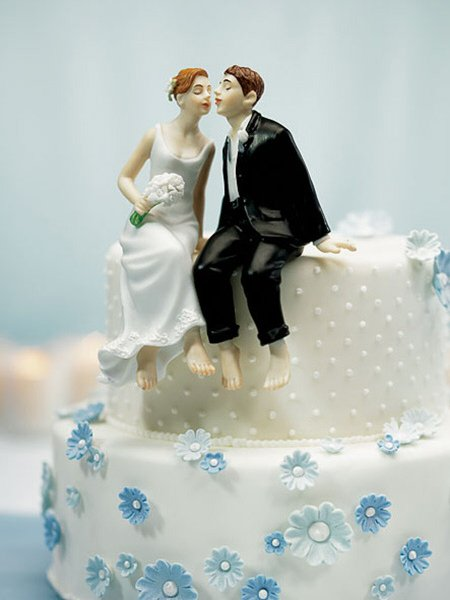 Barefoot Bride And Groom Cake Topper
