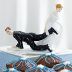 Funny Wedding Cake Topper - Bride Dragging Groom