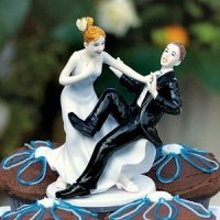 Funny Wedding Cake Topper - Groom 'Taking The Plunge'
