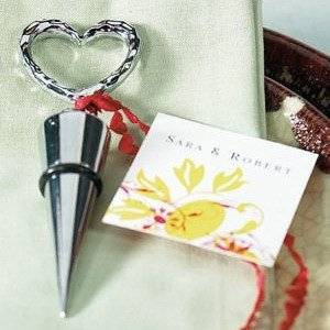 Heart Shaped Wine Stopper Party Favors image