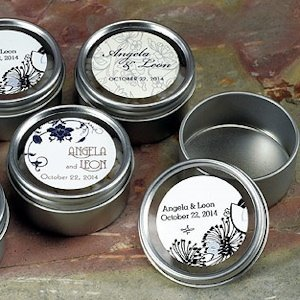 2 Inch Round Party Favor Tins with Clear Lids (8 Pack) image
