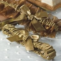 Elegant Bronze Two Piece Garter Set