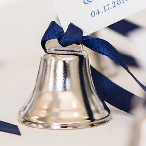 Bulk Mini Wedding Bells - Silver or Gold (Box of 24) image