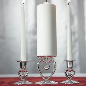 Dangling Heart Unity Ceremony Candle Holder image