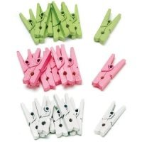Mini Wooden Clips (Set of 24)
