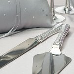 Crystal & Silver Plated Wedding Cake Serving Set
