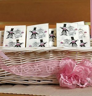 Wedding Couple Tissue Handkerchiefs image