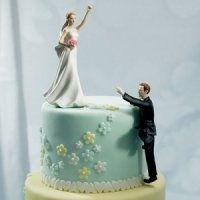Victorious Bride & Climbing Groom Mix and Match Cake Topper