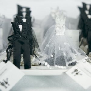 Mini Tux & Dress Favor Bags (Bride and Groom) image