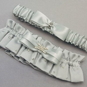 Platinum and Crystals Two Piece Garter Set image