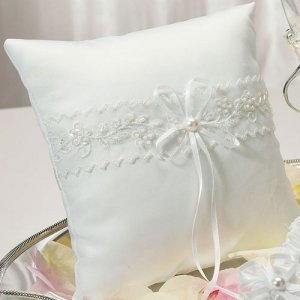 Whimsical Art Square Ring Bearer Pillow image