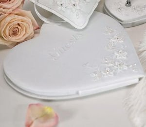 Floral Fantasy Heart Shaped Guest Book image