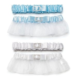 Classic Elegance Two Piece Garter Set with Buckle image
