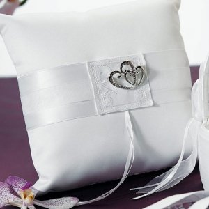 Double Heart Square Ring Boy Pillow (2 Colors) image